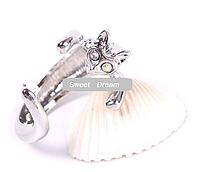 Симпатичное кольцо Кошка с кристальными глазами, ювелирное изделие, цвет - серебро, цвет глазок - разноцветный