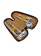 04-7101-1 КДС набор маникюрный золотистый