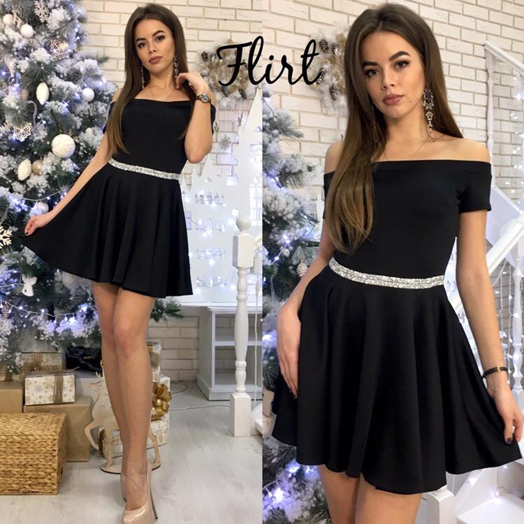 b93e4f65a19f Купить новогоднее платье с открытыми плечами недорого в интернет-магазине  ...