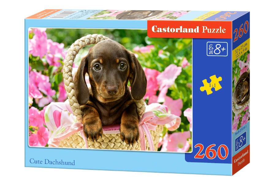 Пазлы Castorland Милая такса, 260 элементов