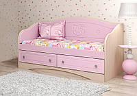 """Детский диван """"Kiddy"""" Розовый глянец 70*140"""
