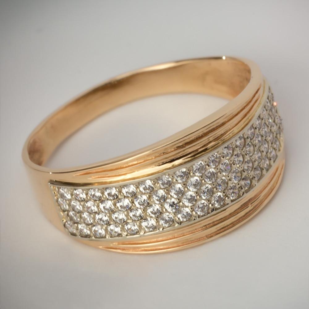 Золотое кольцо с фианитами. КП1621