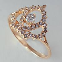 Золотое кольцо корона с фианитами. ГП21150