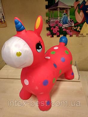 Резиновые прыгуны - лошадки MS 1338, единорог 1330г, (Красный), фото 2