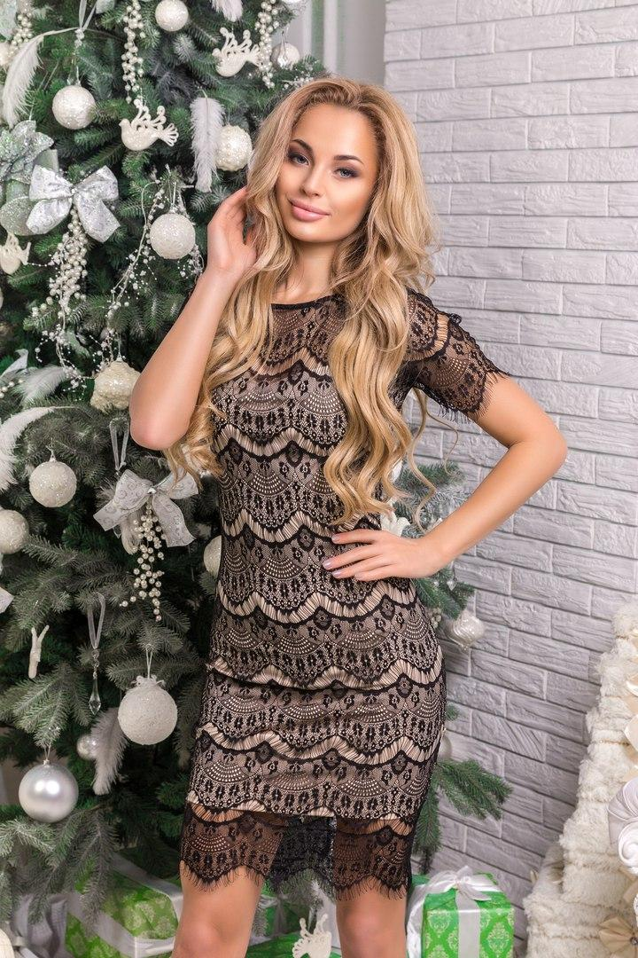 Сукня Alda, облягаючого крою, декор мереживо