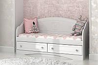 """Детский диван """"Мишка"""" Белый глянец 70*140"""