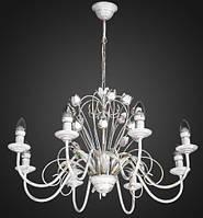 Люстра флористика свечи 8 ламп AR-004603 светлая, фото 1