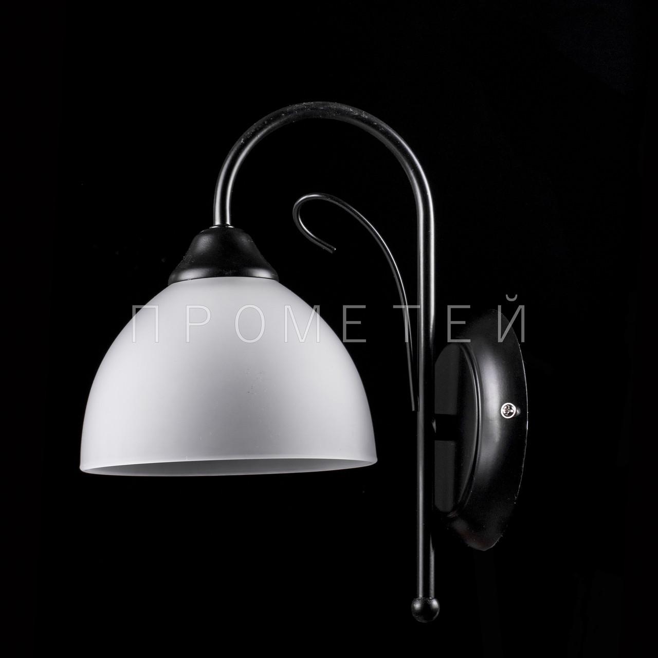 Бра на 1 лампочку (чорний) P3-2649/1W/BK+WT