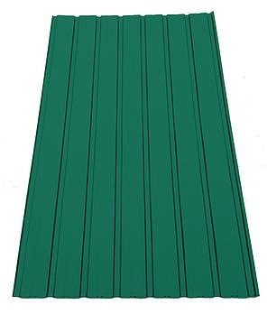 Профнастил ПС-10 зеленый высота 0,25мм  2м, ширина 95 см., фото 2