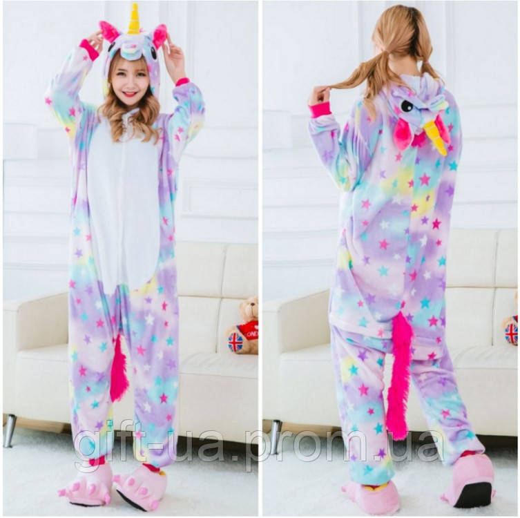 Пижама Кигуруми (Звездный Единорог) купить в Украине цельная пижама единорог  ( Kigurumi единорог розовый 52abf65256f70