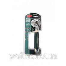 Ключ торцевой трещоточный многофунциональный с прорезиненной рукояткой (6-24мм)