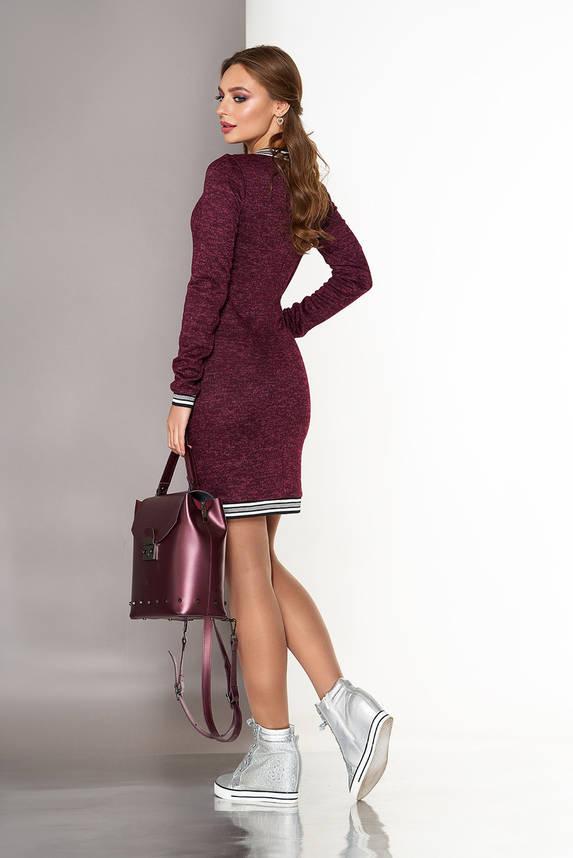 Платье спортивного стиля из ангоры бордо, фото 2