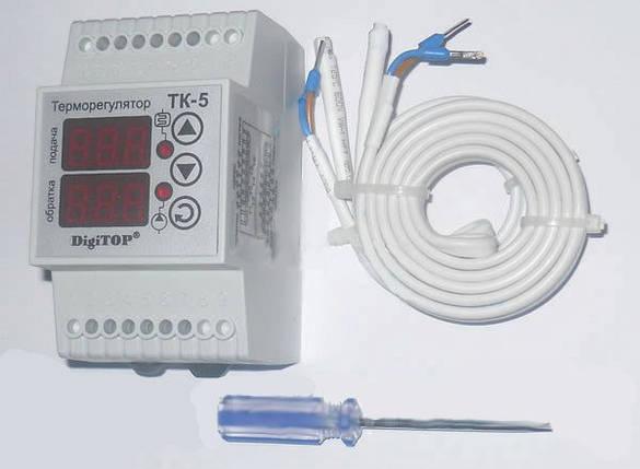 Терморегулятор ТK-5 (цифровой) 6А DIN рейка,электрооборудование для сада и дома,качество, фото 2