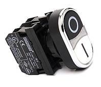 Кнопка сдвоенная CM102K20HB-10 1НО+1НЗ черно-белая Эмас
