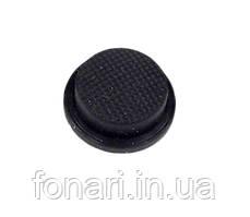 Кнопка силиконовая черная 15 мм.