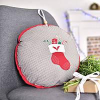 Подушка декоративная Новогодний сапожок, фото 1