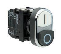 Кнопка сдвоенная выступающая CM102K21HB 1НО+1НЗ черно-белая Эмас
