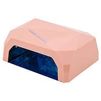 Гибридная лампа УФ LED+CCFL Diamond 36Вт Розовая