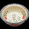 Керамическая пиала с полями для супа, салатник 18 Scarlet