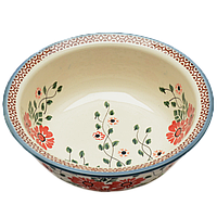 Керамическая пиала с полями для супа, салатник 18 Scarlet, фото 1