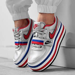 """Кроссовки Nike Vandal 2K """"Double Stack"""" (Серые/Красные/Синие), фото 2"""