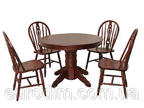 Стол обеденный CHDT-4260-SPB темная вишня, фото 2