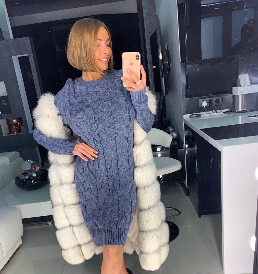 Зимнее вязаное платье Doratti - ЛАЛО  продажа, цена в Украине и ... 27c9215e59c