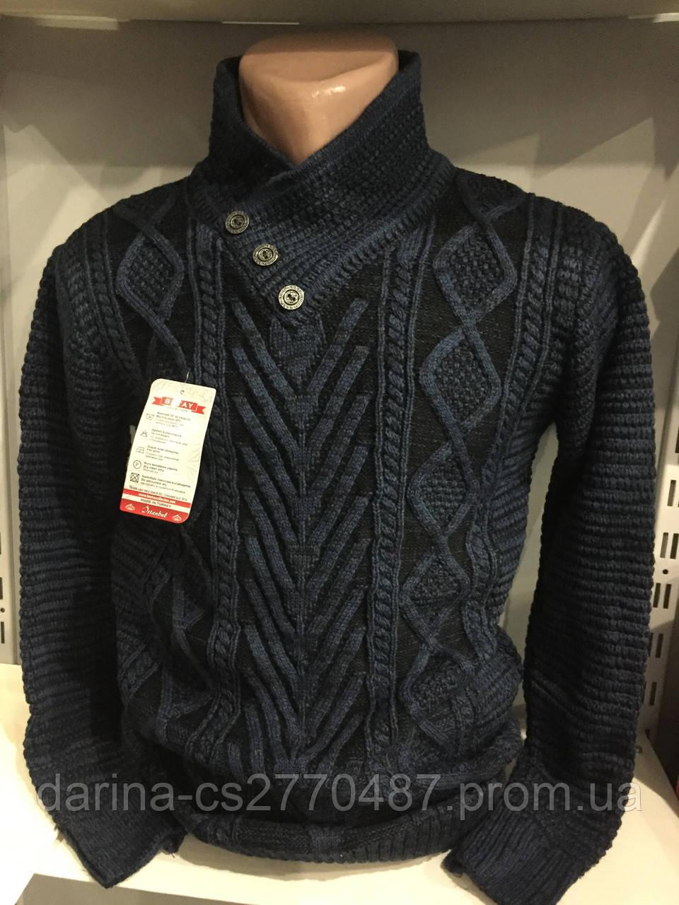 Зимний свитер с пуговицами для мужчины L,XL
