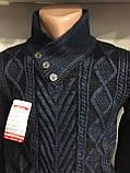 Зимний свитер с пуговицами для мужчины L,XL, фото 2