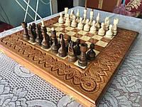 Шахи-нарди-шашки 50 см 50 см Королівські 3