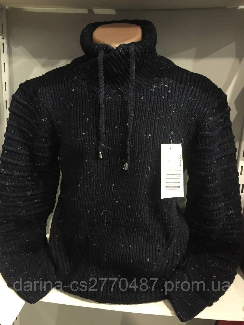 Теплый мужской свитер с шалевым воротником M,L,XL, фото 1