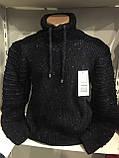 Теплый мужской свитер с шалевым воротником M,L,XL, фото 2