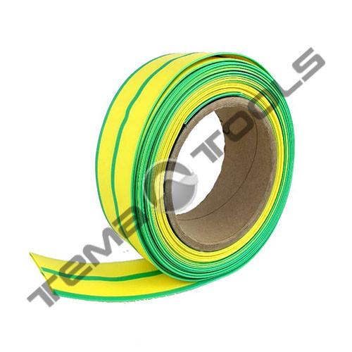 Термоусадочная трубка 6 мм бухта 100 м – термоусаживаемая трубка ТУТ, термоусадка желто-зеленая