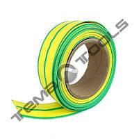 Термоусадочна трубка 8 мм, бухта 100 м – термоусаживаемая трубка ТУТ, термоусадка жовто-зелена