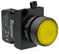 Кнопка нажимная CM100DS 1НО желтая Эмас
