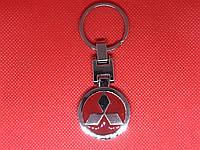 Брелок металлический для авто ключей Mitsubishi (Мицубиши)