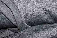 Серая темная.Ткань Ниагара. с начесом меланж, фото 1