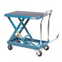 Стол подъемный гидравлический для подъема и перевозки агрегатов 450кг (h min-280мм,h max-860мм, 950х555мм)