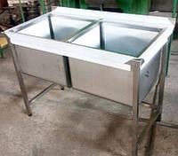 Ванна моечная 2-х секционная 1150*600*850/300 (201/430)