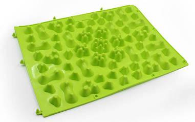 Детский ортопедический и массажный коврик-пазл OSPORT 27х38см Зеленый