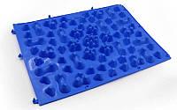 Детский ортопедический и массажный коврик-пазл OSPORT 27х38см Синий