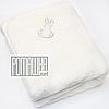 Детский махровый плед одеялко 85х85 см мягкий, теплый на подкладке 100% хлопок с утеплителем 4498 Бежевый