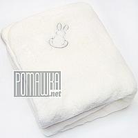 Детский махровый плед одеялко 85х85 см мягкий, теплый на подкладке 100% хлопок с утеплителем 4498 Бежевый, фото 1