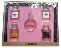 Женские - Подарочный набор парфюмерии Chanel 5 в 1