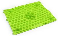 Коврик-пазл ортопедический массажный резиновый для стоп 28х40cм Зеленый ZD-4601