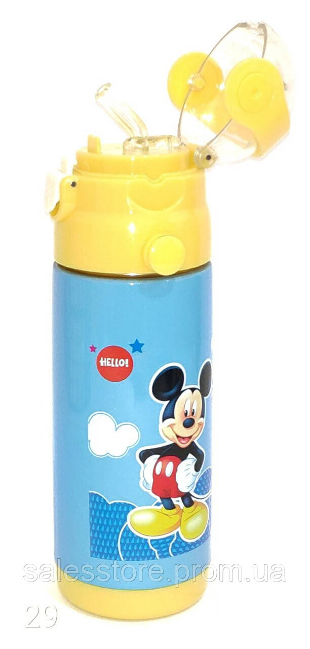 Термос детский Disney 603 с трубочкой объем 350 мл цвет №29 Mickey Mouse Микки Маус