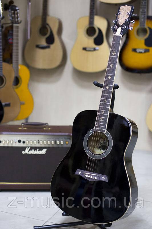 Гитара акустическая Crusader CF-6001 FM BK