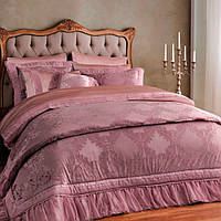 Покрывало 260х270 смСатин Жаккард Elegance Сухая Роза Arya AR-TR1003750-rosa