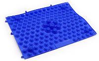 Коврик-пазл ортопедический массажный резиновый для стоп 28х40cм Синий ZD-4601