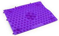Коврик-пазл ортопедический массажный резиновый для стоп 28х40cм Фиолетовый ZD-4601